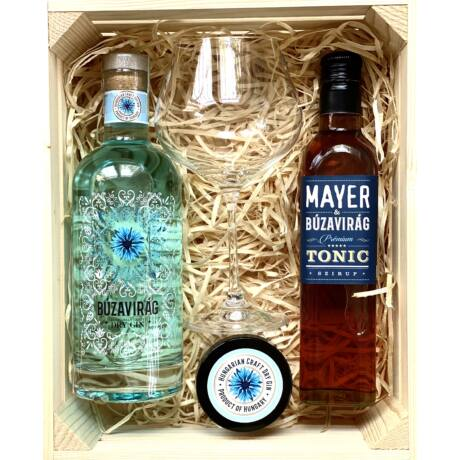 Búzavirág gin & MAYER tonic szirup ajándék box